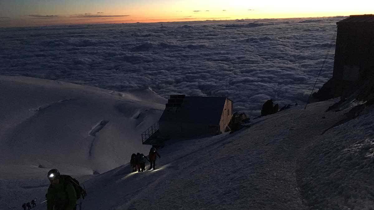 W drodze na Mont Blanc czyli Vallot i jeden śpiwór dla dwóch