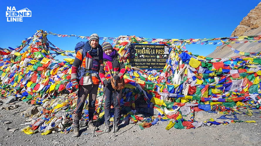 Przełęcz Thorong La na szlaku dookoła Annapurny