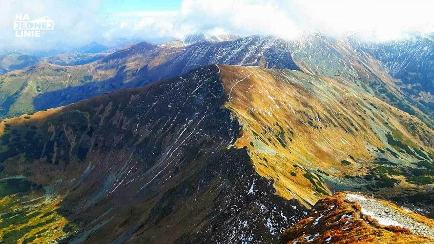 Kończysty Wierch jesienią w Tatrach Zachodnich