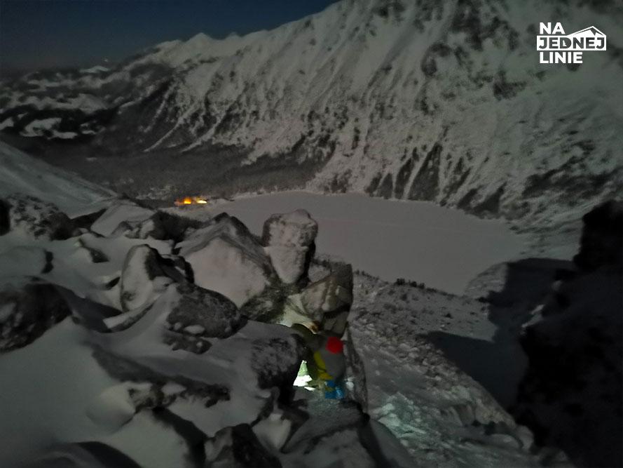 Lodospad Kuluar Kurtyki szczyt. Próg Mnichowy
