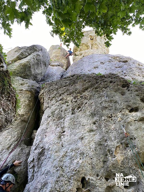 Prawdziwa górska przygoda na skale knur wspinaczka w Łutowcu