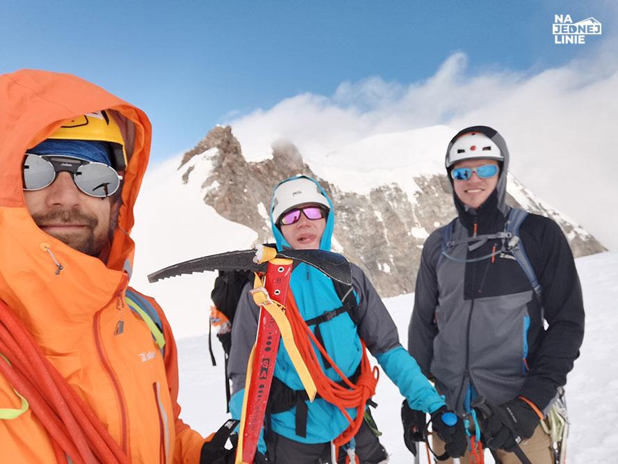 Piramida Vincenta w Alpach szczyt