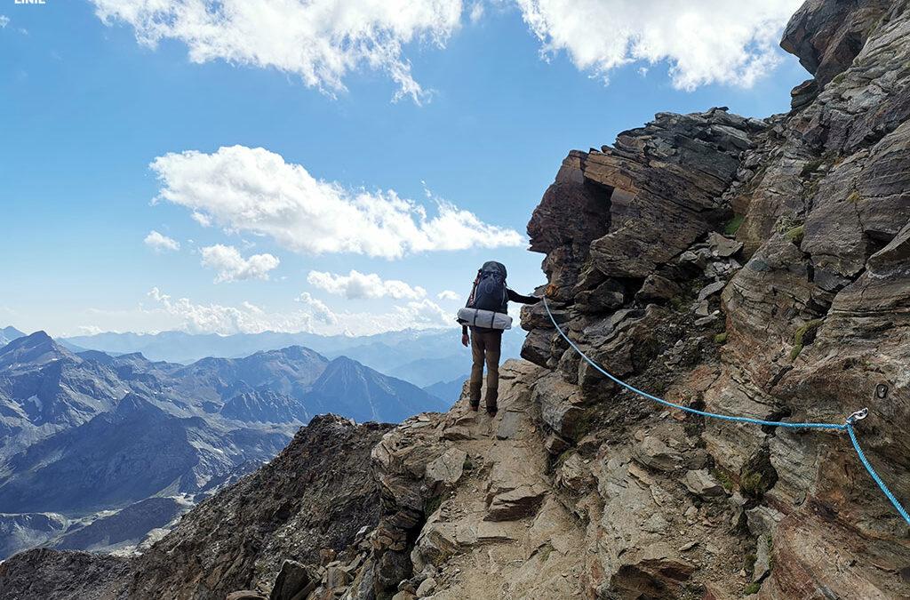 Nieudany atak na Castora i Polluxa. Opis drogi do Quintino Sella i piękna panorama Alp