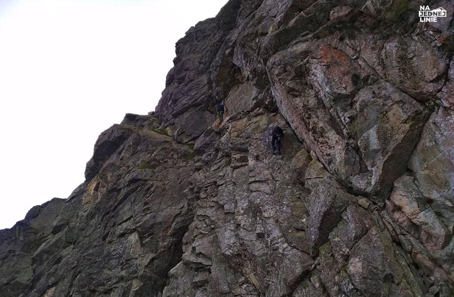Wspinaczka drogą Stanisławskiego V- na szczyt Kościelca
