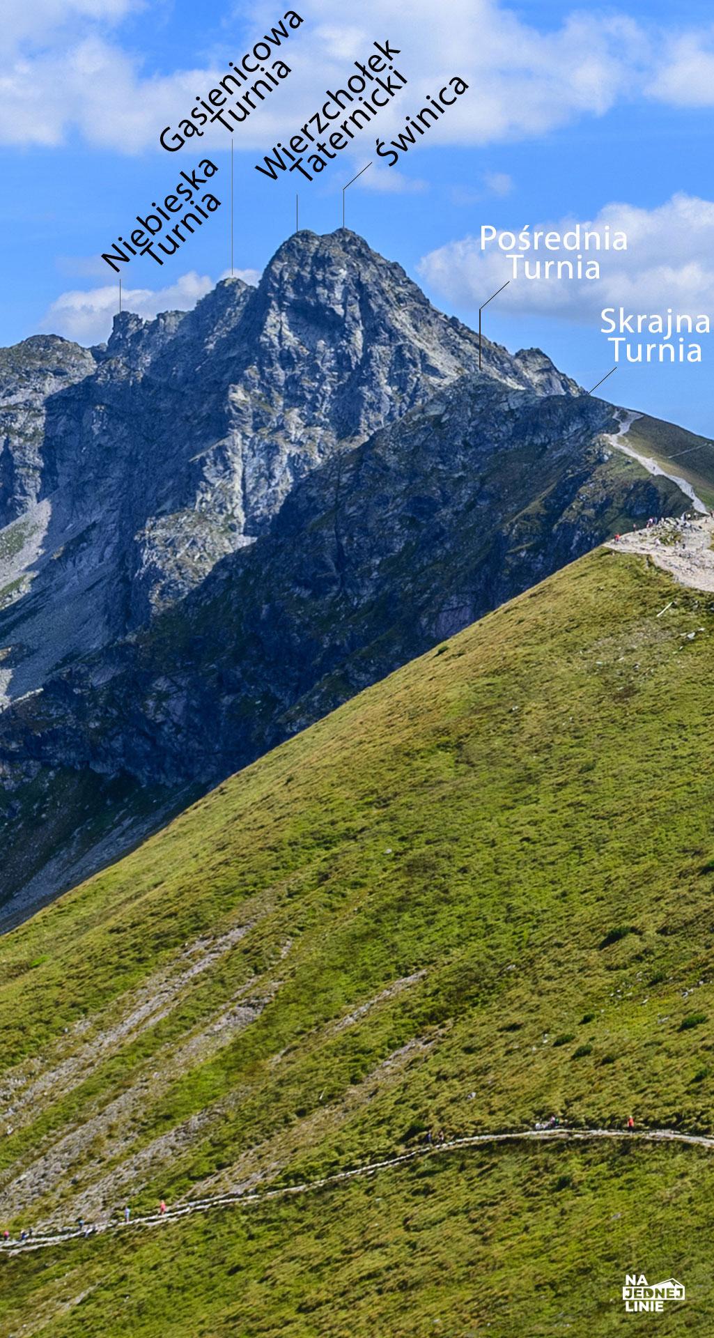 Panorama z Kasprowego Wierchu. Widok na Świnicę